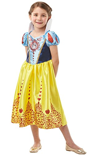 Rubie 's 640712l Disney Princess Snow White Gem Kostüm, Mädchen, groß (Snow White Dress Up Kostüm)