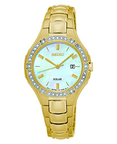 Seiko Solar Ladies Gold Plated Watch (Gold Plated Watch)