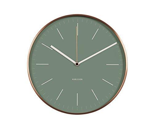Karlsson - Wanduhr - Uhr - MINIMAL - Grün - Ø 27,5 cm