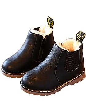 [Sponsorizzato]Stivali in pelle ragazze, Bambini de ragazzi Invernali caldo morbido Martin Stivaletti casual scarpe Boots