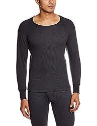 Rupa Torrido Mens Cotton Vest (8903978492711_4001-RD NECK BLACK l)