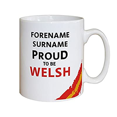 Official Personalised Wales Rugby Proud to be Welsh Mug - 99p EXPEDITED DELIVERY - Authorized UK Seller by Official Football Merchandise