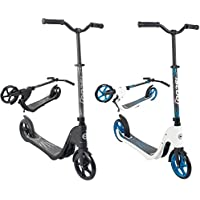 iScoot X60 Adult City Push Kick Scooter with Large 200MM Wheels, Kick Stand, Mud/Rain Guards and Folding Frame - Easy to Carry Light Weight Aluminium Kickboard Scooter