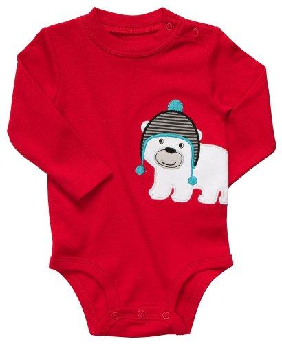 Carters Eisbär (Carter's Langarmbody Body Gr. 56/62 Eisbär Winter US SIZE 3 month boy onesie Junge Unterwäsche Baby)