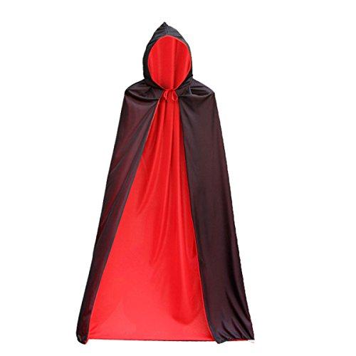WANG Fly Halloween Doppelseitiger Umhang Adult Cloak Dance Kostüm Requisiten Doppelseitiger Tod Mantel Doppel Mantel (Für Doppel-kostüme Halloween)