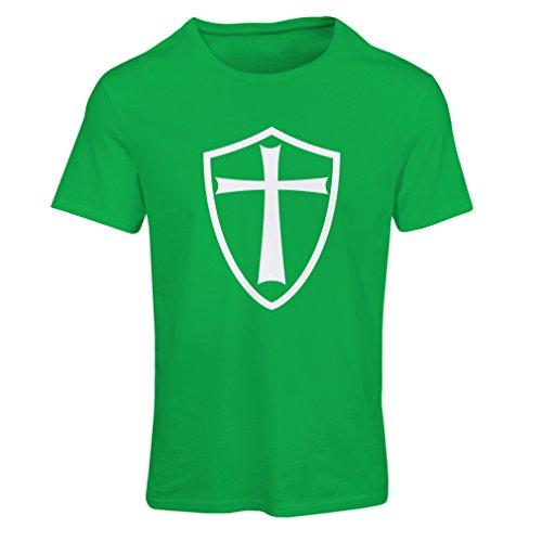 T-shirt femme Chevaliers Templiers - Chevalier des Templiers Vert Blanc