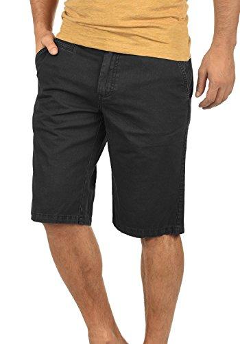 Twill-hose Kurz (SOLID Viseu Herren Chino-Shorts kurze Hose Business-Shorts aus 100% Baumwolle, Größe:XXL, Farbe:Black (9000))