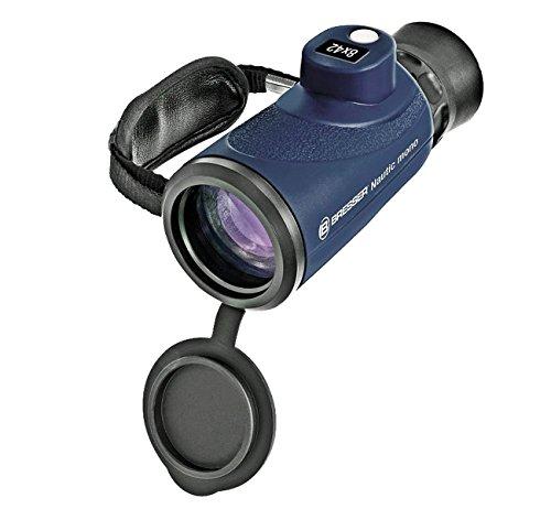 Bresser Fernglas Monoglas 8x42 Wasserdicht mit Kompass und Entfernungsmesser