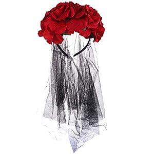 Lurrose rosa flor corona velo