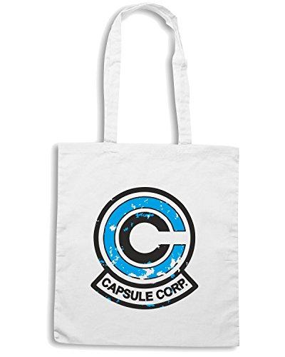 T-Shirtshock - Borsa Shopping TGAM0048 Logo capsule corp 2 Bianco