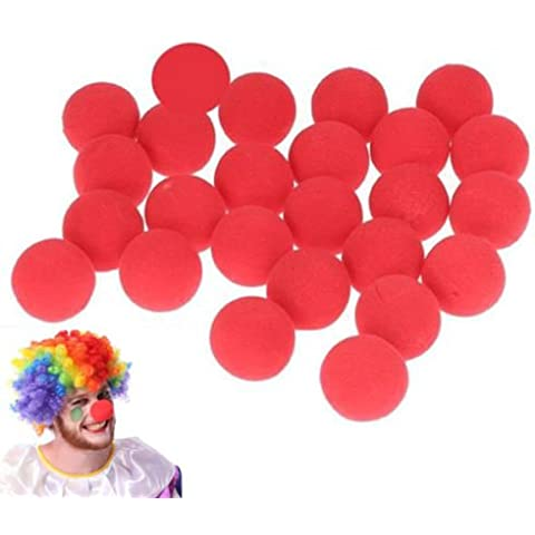 Interesting® 10pcs espuma nariz roja circo payaso nariz Comic Party Supplies Halloween traje mágico Vestido fiesta accesorios