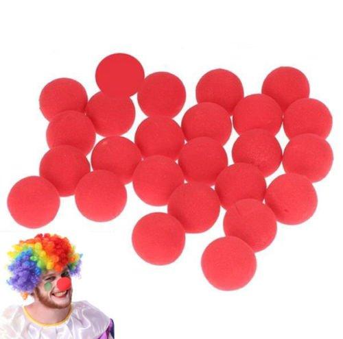 Interesting® 10pcs Schaum rote Nase Zirkus Clown Nase Comic Party Supplies Halloween Zubehör Kostüm magische Kleid Party Zubehör
