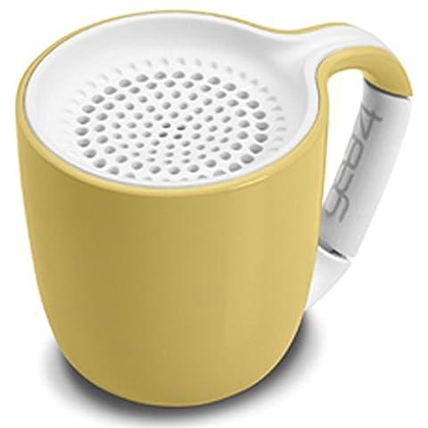 Gear4 Espresso-Schale Beweglicher drahtloser Universal 3.0 Bluetooth Lautsprecher (Pastellgelb)