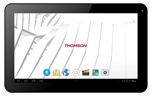 """Thomson Tablette tactile TEO10-8G - 10,1"""" Noir - 1 Go de RAM - 8 Go de Stockage - Android 4.4 - Wi-Fi, Bluetooth, USB"""