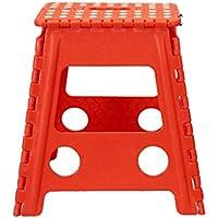 Taburete plegable rojo 40 x 39 x 32