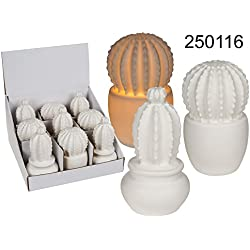 Cactus de cerámica con LED Shine Inline Decoración Casa