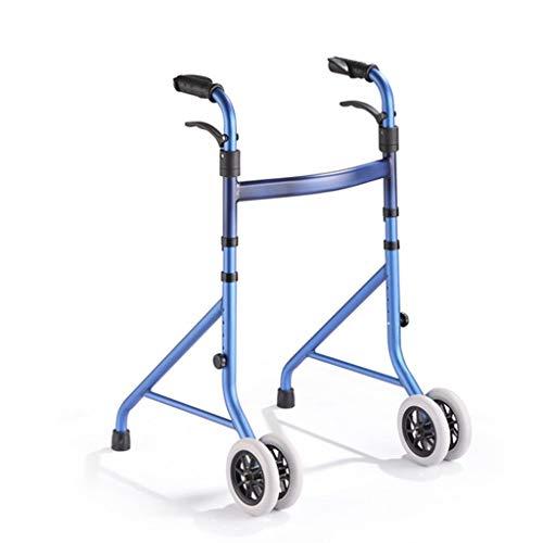 Lhy-deambulatore walker pieghevole leggero con gambe pieghevole walker aid regolabile in altezza bastone da passeggio con ruote per gli anziani anziani anziani disabili corrimano stampelle