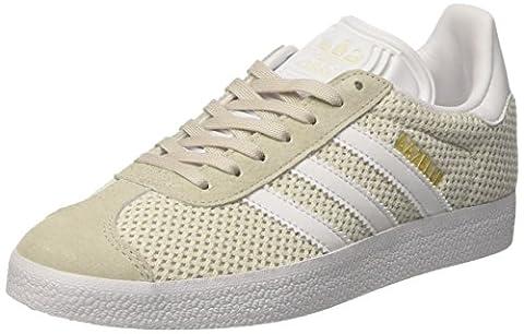 adidas Gazelle, Baskets Basses Femme, Beige (Talc/Footwear White/Talc), 38 EU