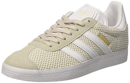 adidas Gazelle W, Sneaker Donna Beige (Talc/footwear White/talc)