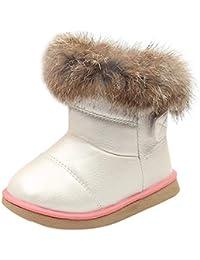 K-youth Botas Niña Invierno Caliente Botines Calentar Botas de Nieve para Niñas Antideslizantes Zapatos De Bebé Zapatillas de Deporte Unisex Niños