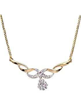 Naava Damen-Halskette 9 Karat 375 Gelbgold PNE01226Y