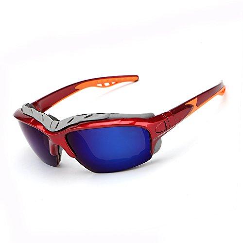 Yiph-Sunglass Sonnenbrillen Mode Mode Männer Polarisierte Sonnenbrille Männlichen Brille Sonnenbrille Nachtsicht Fahren Sonnenbrille Nachtsichtbrille Männer gafas de sol (Color : Red+Blue)