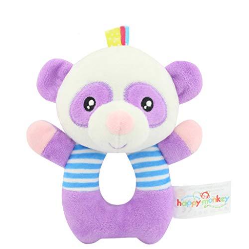 TAOtTAO Panda Rassel Plüschtier Kinderbaby-Tierhandbells Entwicklungsspielzeug-Karikatur-Nette Plüsch-Glocken-Rassel