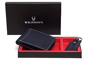 WildHorn Blue Men's Wallet (GIFTBOX186)