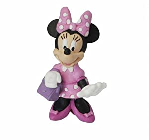 Minnie Mouse- Mickey Mouse Figura Minnie con Bolso, (Bullyland 15328)