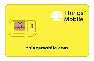tarifas posicionamiento web: Tarjeta SIM Things Mobile de Prepago para IOT y M2M con Cobertura Global sin cos...