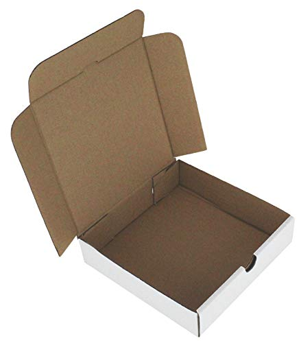 Pizza-Boxen zum Mitnehmen von Fast-Food-Kuchenverpackungen, Weiß, Größe: 17,8 cm, 10 Stück