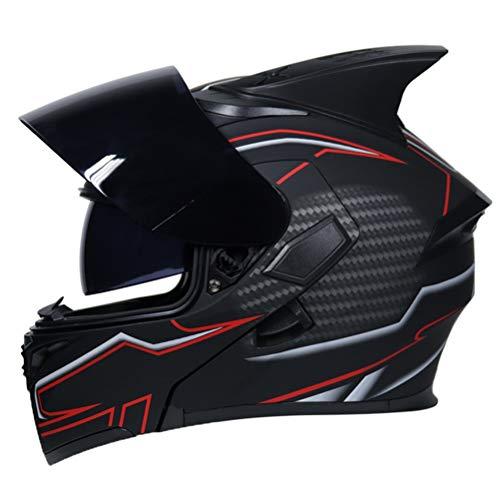 Uomini casco moto modulare donne flip casco integrale Racing doppio obiettivo anti nebbia Motocross Caschi Professional Racing Off Road moto tappi di sicurezza