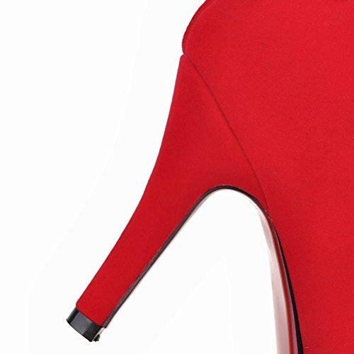 Mee Shoes Damen speziell Reißverschluss high heels Ankle Boots Rot
