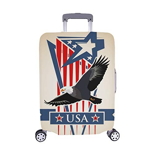 Simboli di composizione vettoriale Stati Uniti Patriotic Pattern Spandex Trolley Custodia da viaggio Protezione copri valigia 28,5 X 20,5 pollici