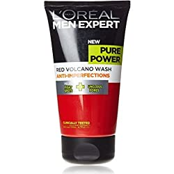 Loreal Men Experts Pure Power Anti-Imperfections Red Volcano Wash 150 ml With Free Ayur Sunscreen 50 ml