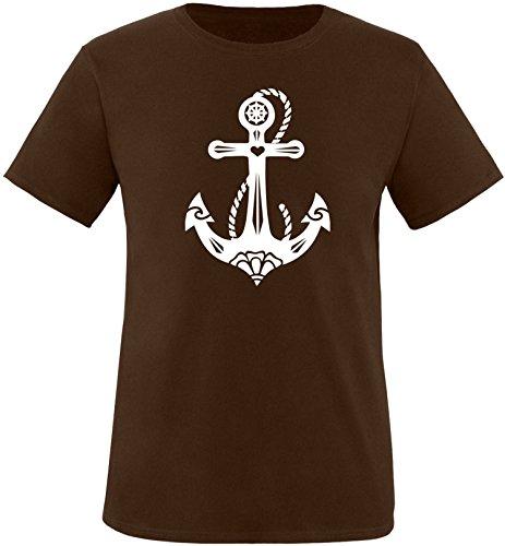 EZYshirt® Anker Tattoo Herren Rundhals T-Shirt Braun/Weiss