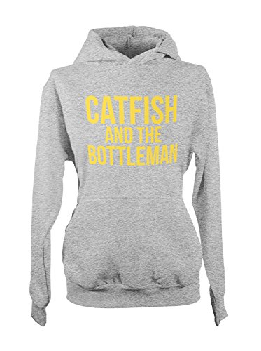 Catfish And The Bottleman Music Cool Yellow Donna Felpa con cappuccio Grigio Large