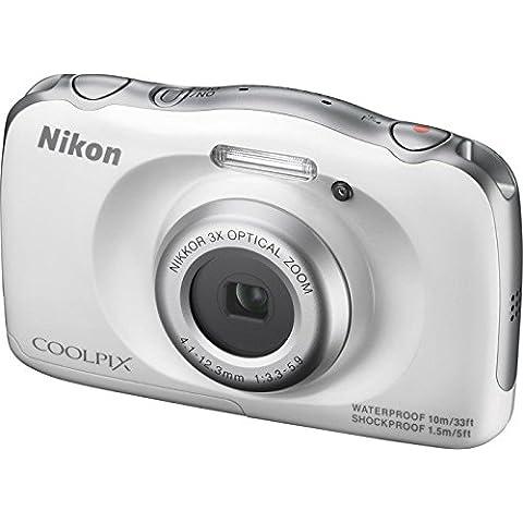Nikon COOLPIX S33 + Selfie stick - Cámara digital compacta (13.2 MP, zoom óptico de 3x y pantalla de 2.7 pulgadas),