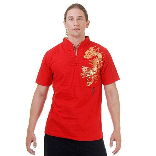 Kung-Fu,Tai-Chi & Meditations T-Shirt Baumwolle Größe XL Rot