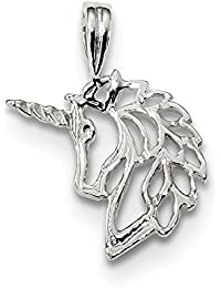 Sterling Silver Solid Polished Unicorn Charm