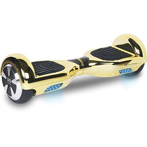 Cool&Fun Hoverboard 6,5 pouces Chromé Smart Scooter Skateboard Électrique Gyropode 2x350W de Boutique GyroGeek (Doré)