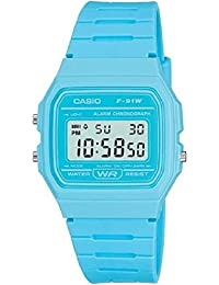 Casio F-91WC-2AEF: Reloj digital, correa de goma, color: azul