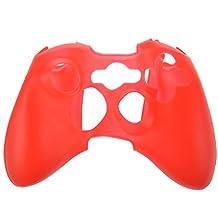 SODIAL(R) Funda de Silicona para Controlador XBOX 360 - Rojo