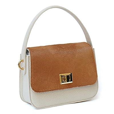 Mini sac à main Bandouliere En Cuir Petit Poney Femme deux tons