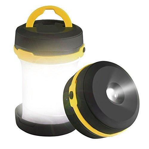 RAINBOW | Luce LED da campeggio pieghevole (gialla), 3 modalità di uso - a batteria, waterproof - lanterna per giardino, casa, campeggio, escursionismo, emergenze, blackout