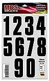 15cm Zahlen Aufkleber Satz 0-9 Klebezahlen Selbstklebend Schwarz