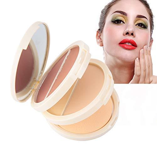 3 in 1 Concealer Puder erröten Puder für Make-up, Ölkontrolle und wasserdichte und dauerhafte Wirkung -