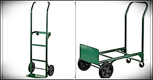 Preisvergleich Produktbild Adjustable Folding Convertible Multi-Purpose Dolly and Cart Utility Hand Truck with 400 LB Weight Capacity by Harper Trucks