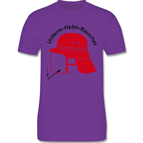 Feuerwehr - Unterm-Helm-Rauch - Herren Premium T-Shirt Lila