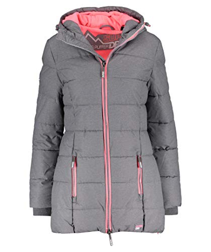 SUPERDRY Tall Sports Puffe, Chaqueta para Mujer S Gris